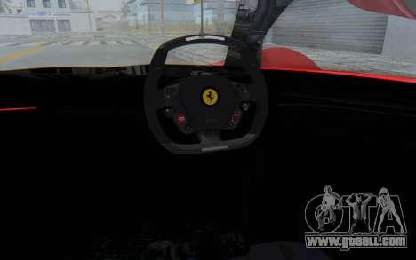 Ferrari F80 Concept 2015 Beta for GTA San Andreas inner view