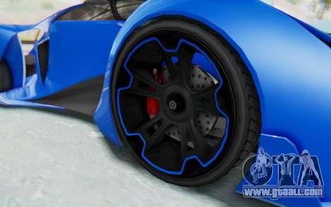 GTA 5 Grotti Prototipo v1 for GTA San Andreas back view