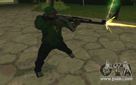 AK-47 Vulcan (SA) for GTA San Andreas sixth screenshot