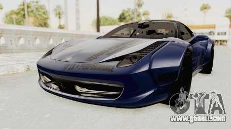 Ferrari 458 VPM Crew for GTA San Andreas right view