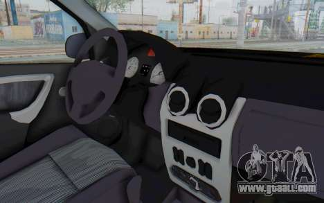 Dacia Logan Facelift Ambulanta for GTA San Andreas inner view