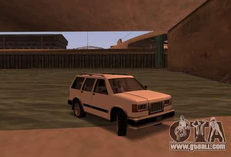 Landstalker SRT8 for GTA San Andreas back left view