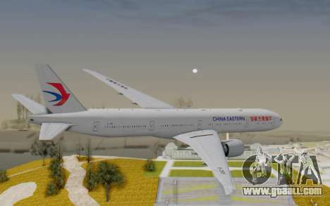 Boeing 777-300ER China Eastern Airlines for GTA San Andreas right view