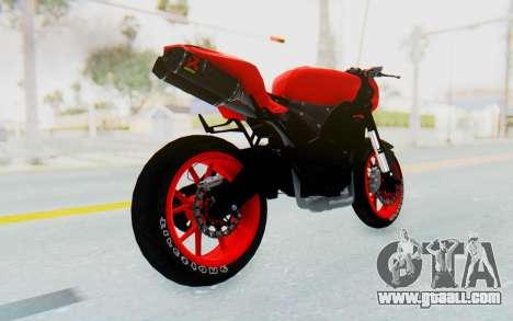 Kawasaki Ninja 250R Streetrace Naked for GTA San Andreas left view