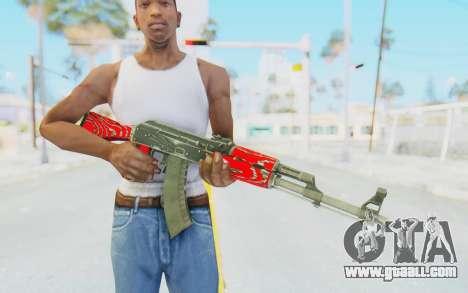 CS:GO - AK-47 Laminate Red for GTA San Andreas third screenshot