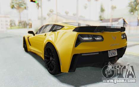 Chevrolet Corvette C7.R Z06 2015 for GTA San Andreas inner view