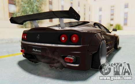 Ferrari 360 Modena Liberty Walk LB Perfomance v1 for GTA San Andreas right view