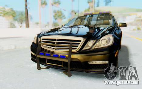 Mercedes-Benz E63 German Police Blue for GTA San Andreas