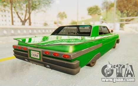 GTA 5 Declasse Voodoo SA Lights for GTA San Andreas left view