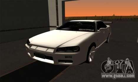 Nissan Skyline ER34 GT-R for GTA San Andreas