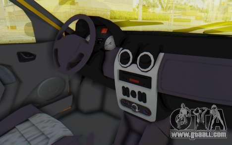 Dacia Logan Taxi for GTA San Andreas inner view