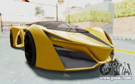 GTA 5 Grotti Prototipo v2 IVF for GTA San Andreas back view