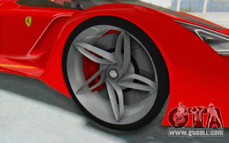 Ferrari F80 Concept 2015 Beta for GTA San Andreas back view