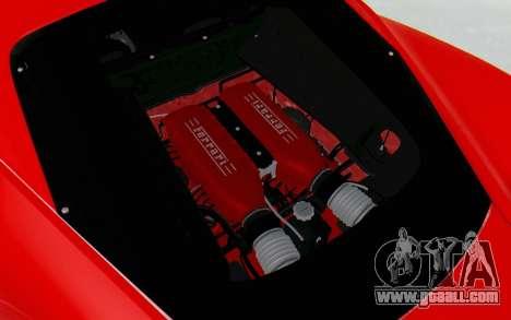 Ferrari 458 Italia F142 2010 for GTA San Andreas side view