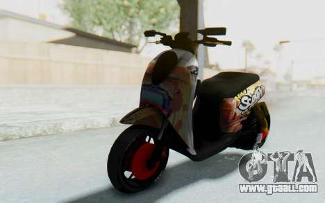 Honda Scoopyi Modified for GTA San Andreas back left view