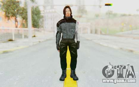 Bucky Barnes (Winter Soldier) v1 for GTA San Andreas second screenshot