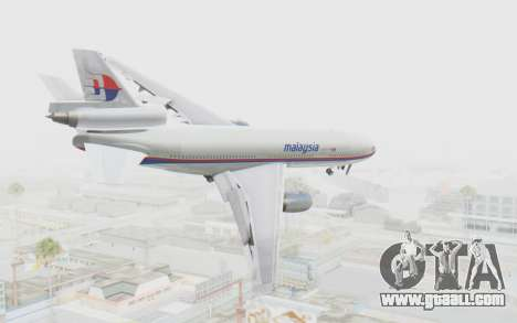 DC-10-30 Malaysia Airlines (Old Livery) for GTA San Andreas left view