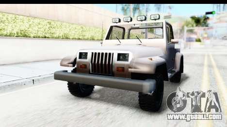 Mesa MAXimum 4x4 for GTA San Andreas right view