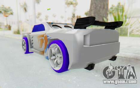 Hot Wheels AcceleRacers 3 for GTA San Andreas back left view