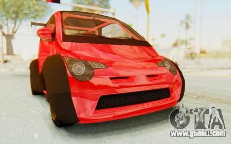 GTA 5 Benefactor Panto Custom for GTA San Andreas back left view