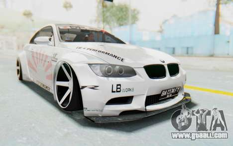 BMW M3 E92 Liberty Walk LB Performance for GTA San Andreas right view