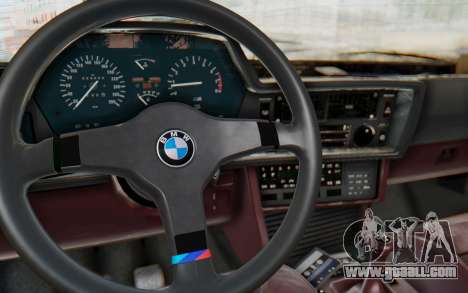 BMW M635 CSi (E24) 1984 IVF PJ1 for GTA San Andreas inner view