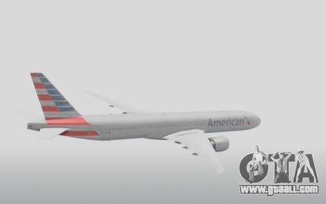 Boeing 777-300ER American Airlines N727AN for GTA San Andreas right view