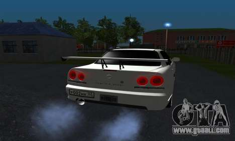 Nissan Skyline ER34 GT-R for GTA San Andreas right view