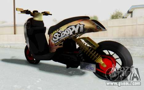 Honda Scoopyi Modified for GTA San Andreas left view