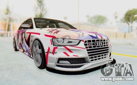 Audi S4 Avant Yurippe Angel Beats Itasha for GTA San Andreas back view