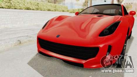 GTA 5 Grotti Bestia GTS v2 IVF for GTA San Andreas side view
