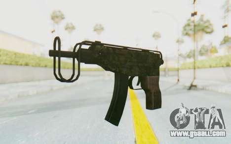 VZ-61 Skorpion Fold Stock Green Flecktarn Camo for GTA San Andreas second screenshot