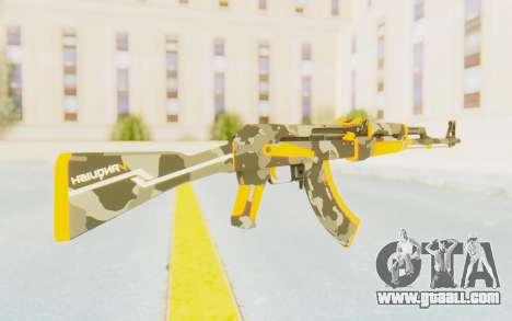 CS:GO - AK-47 Vanquish for GTA San Andreas third screenshot