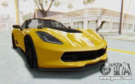 Chevrolet Corvette C7.R Z06 2015 for GTA San Andreas back view