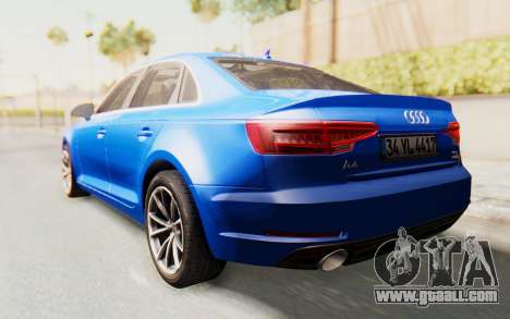 Audi A4 2017 HQLM for GTA San Andreas back left view