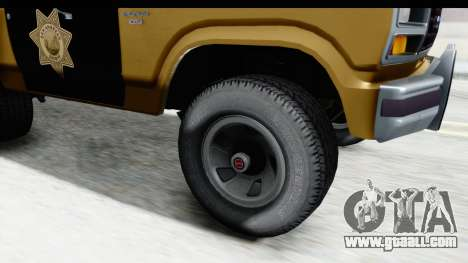 Ford Bronco 1982 Police IVF for GTA San Andreas back view