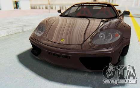 Ferrari 360 Modena Liberty Walk LB Perfomance v1 for GTA San Andreas interior