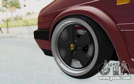 Volkswagen Golf Mk2 for GTA San Andreas back view