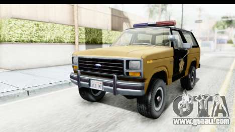 Ford Bronco 1982 Police IVF for GTA San Andreas