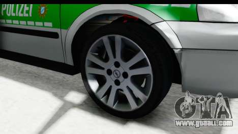 Opel Astra G Variant Polizei Bayern for GTA San Andreas back view