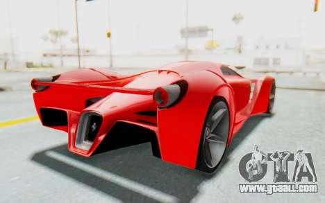 Ferrari F80 Concept 2015 Beta for GTA San Andreas right view
