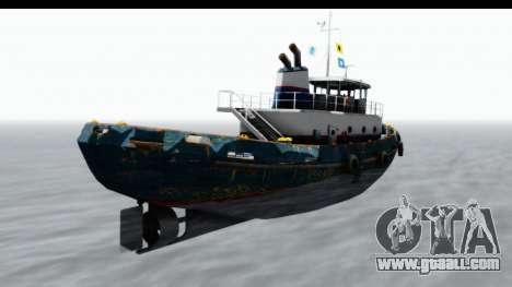 GTA 5 Buckingham Tug Boat v1 IVF for GTA San Andreas left view