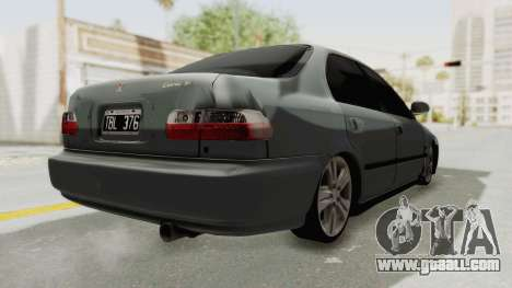 Honda Civic SI Sedan 1992 for GTA San Andreas back left view