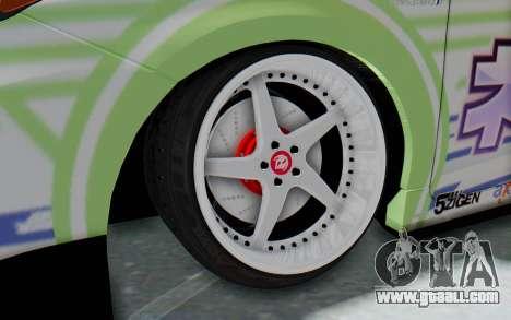 Toyota Prius Hybrid 2011 Hellaflush IF Itasha for GTA San Andreas back view