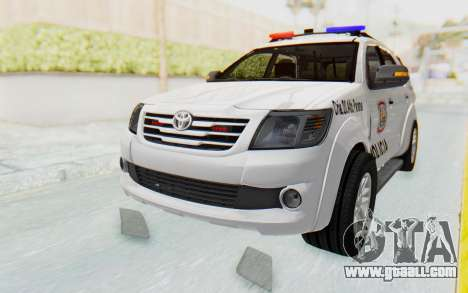 Toyota Fortuner 4WD 2015 Paraguay Police for GTA San Andreas