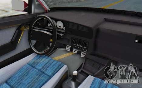 Volkswagen Golf 3 1994 for GTA San Andreas inner view