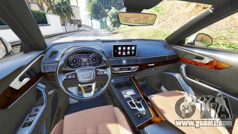 GTA 5 Audi A4 2017 v1.1 front right side view