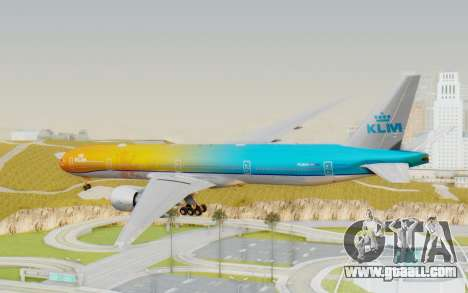 Boeing 777-300ER KLM - Royal Dutch Airlines v1 for GTA San Andreas right view