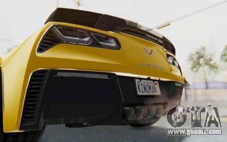 Chevrolet Corvette C7.R Z06 2015 for GTA San Andreas bottom view