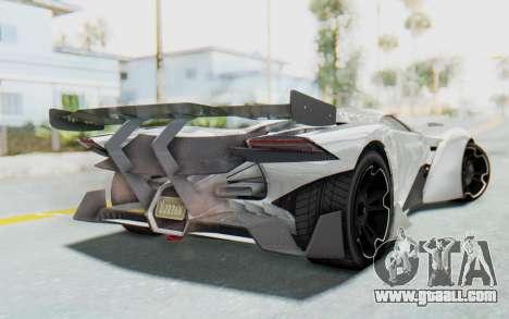 GTA 5 Grotti Prototipo v2 for GTA San Andreas left view